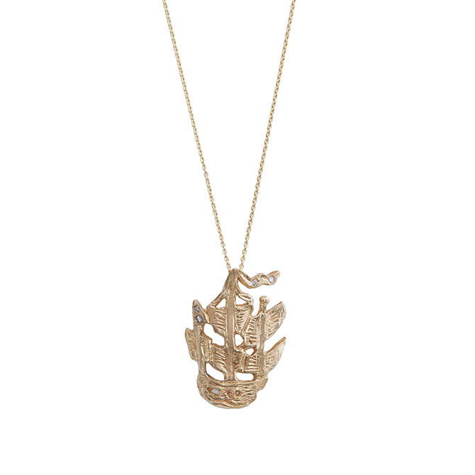 Ice Cream Candy little ship necklace