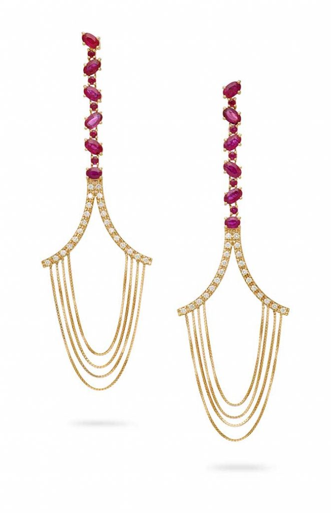 Julls Brasil Joana Salazar Gemfields ruby earrings