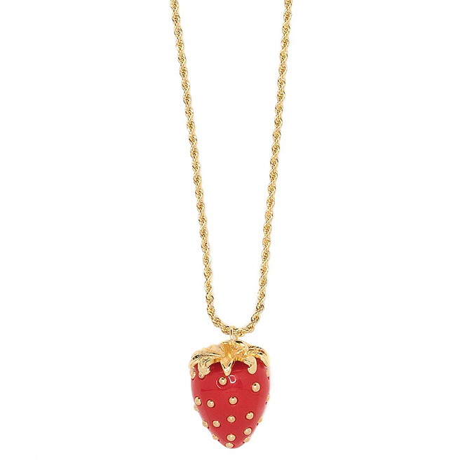 Kenneth Jay Lane strawberry pendant