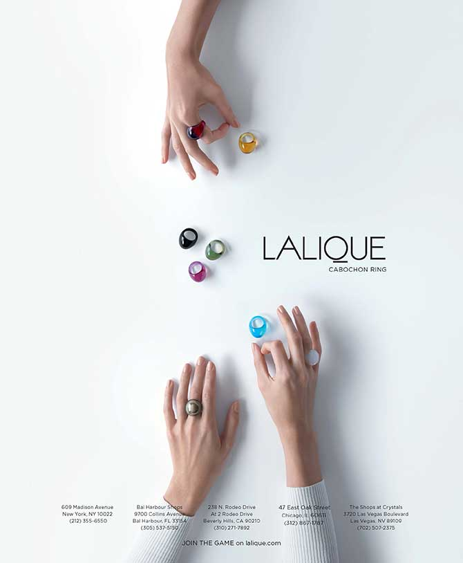 Lalique 2018 cabochon ring ad