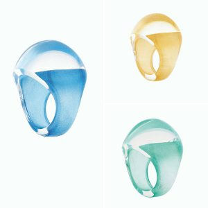 Lalique cabochon rings new colors