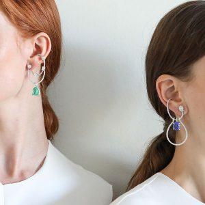 Models in Ana Khouri earrings