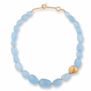 Lika Behar aquamarine Pebble necklace