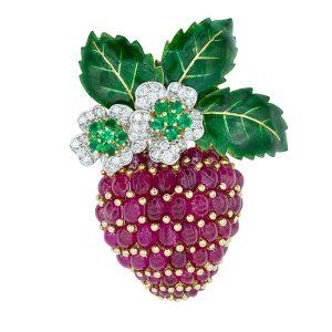 Oscar Heyman strawberry brooch