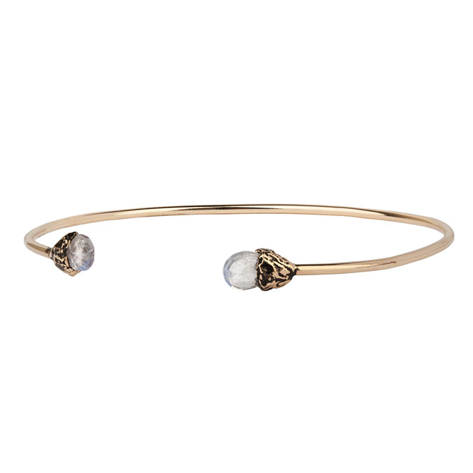 Pyrrha 14k Improvement capped bangle