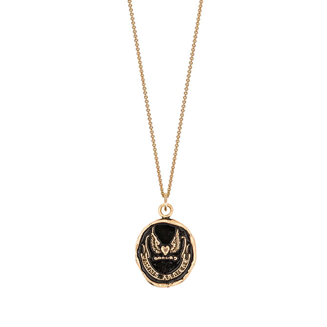 Pyrrha 14k Never Look Back necklace