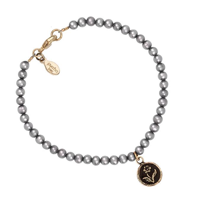 Pyrrha 14k rose talisman pearl bracelet