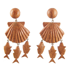 Rebecca de Ravenel shell earrings