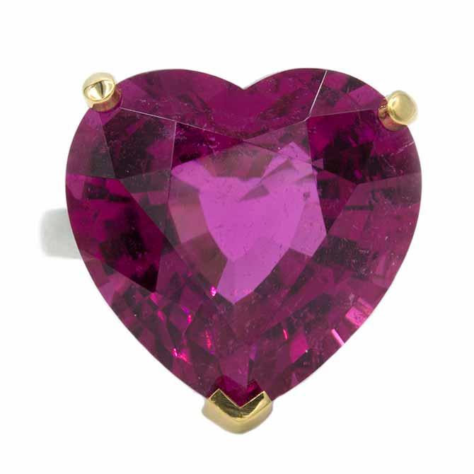 Oscar Heyman rubellite heart ring