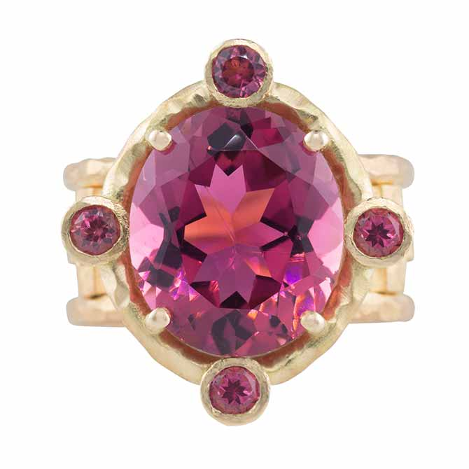 Pamela Froman Regal tourmaline Cross ring