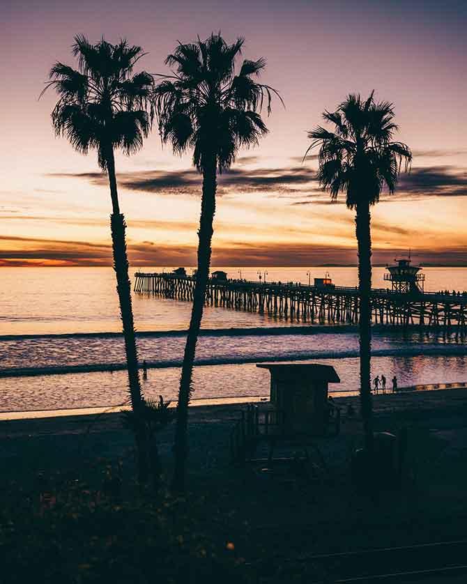 San Clemente Pier Beach Sunset Photo by Derek Liang on Unsplash