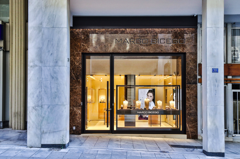 Marco Bicego Athens store exterior
