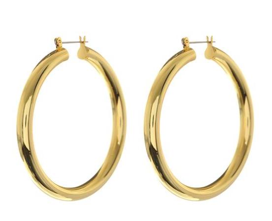 Luv AJ Amalfi Tube Hoops earrings