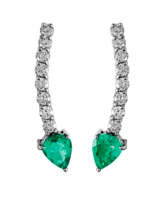 Jack Vartanian Voyeur emerald earrings
