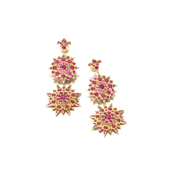 Stephanie Windsor Gemfields earrings