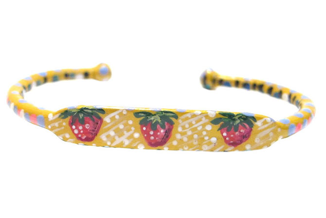Susan Alexandra strawberry bracelet