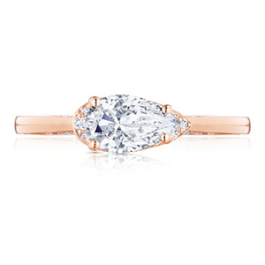 Tacori east west rose gold ring
