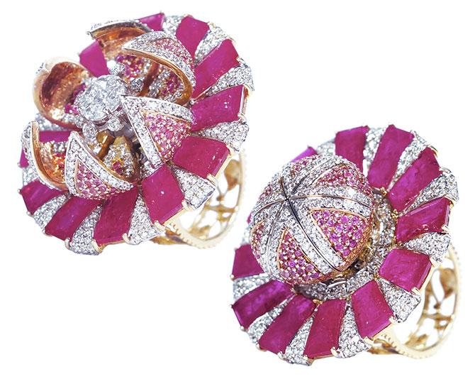 anil bharwani lotus flower ring