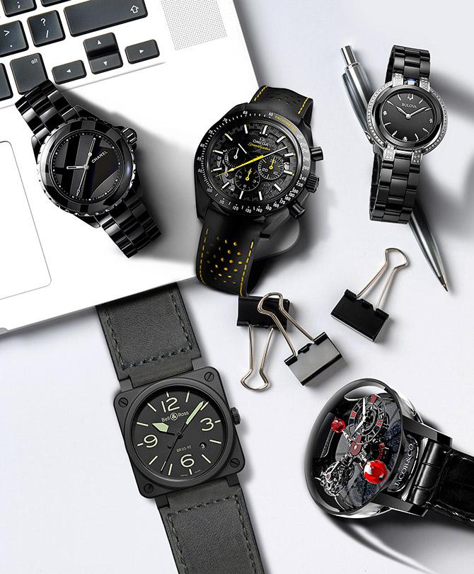 black ceramic watches
