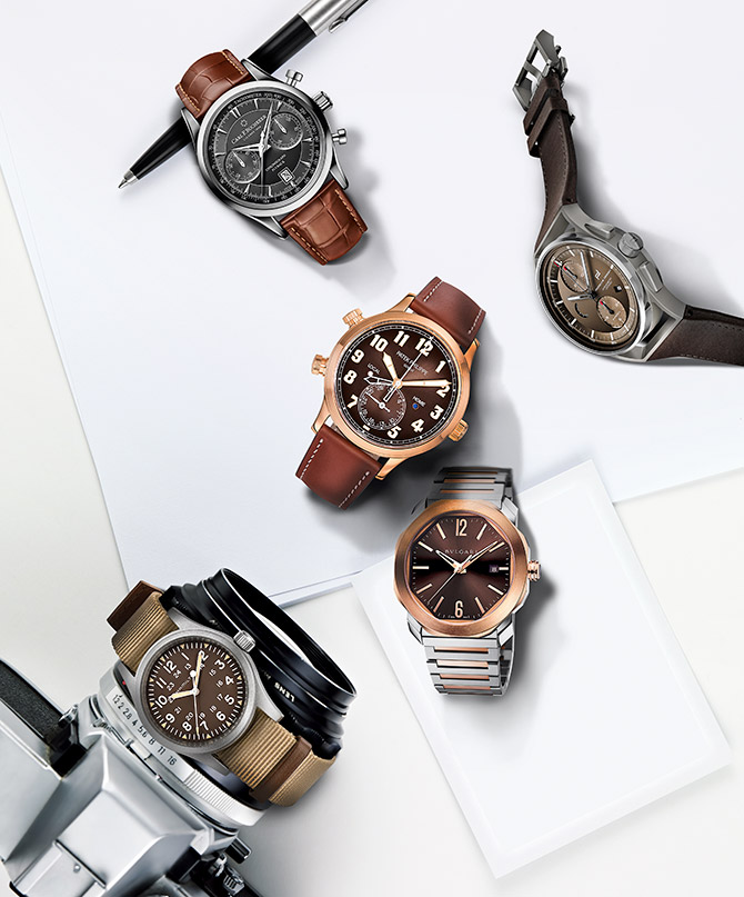 chocolate and espresso watches