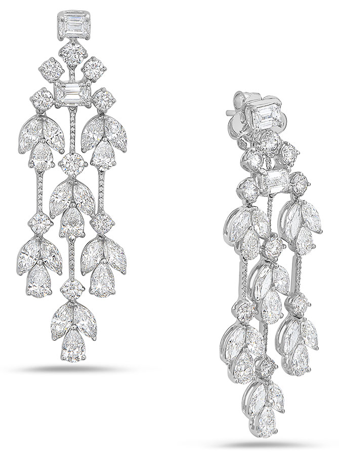 dilamani diamond willow chandelier earrings