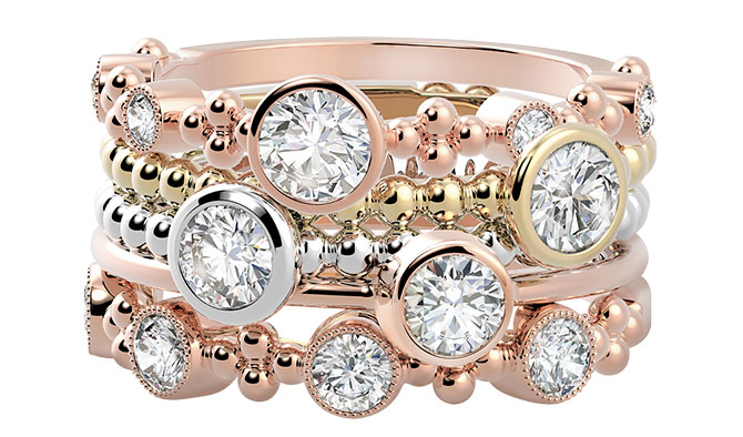 forevermark tribute ring stack