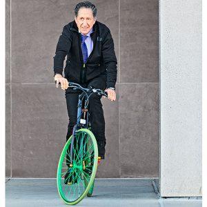 john atencio on bicycle