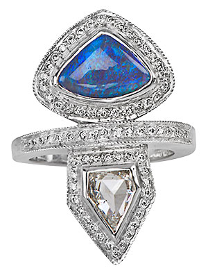 just jules opal diamond ring