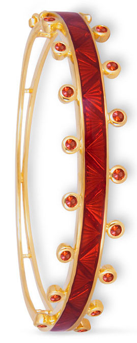 m spalten chroma red enamel bangle