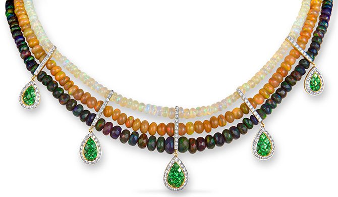 m spalten multistrand opal necklace