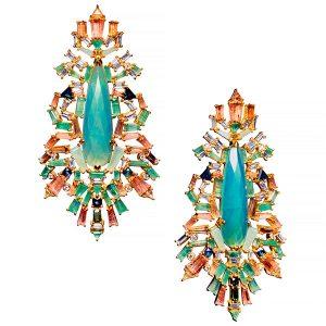 nak armstrong falling fern brocade earrings