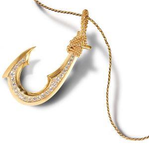 native hands jewelry hawaiian fishhook pendant