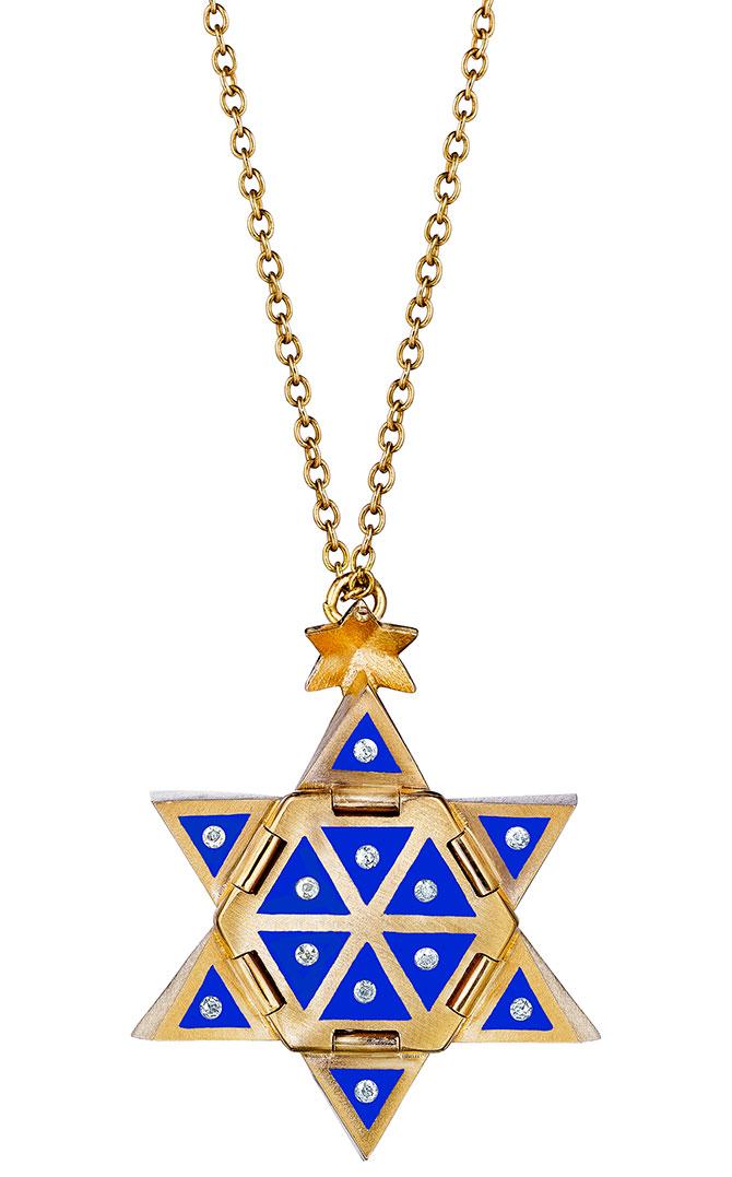 santo by zani star ceramic pendant