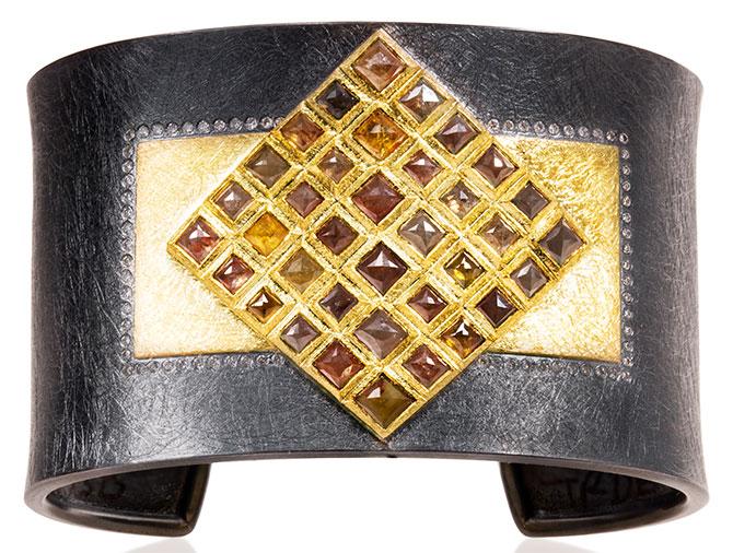todd reed mosaic diamond cuff