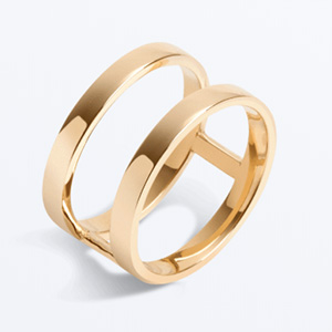 AUrate 14k gold Bridge ring