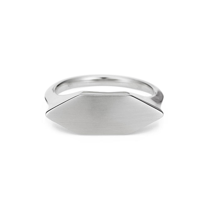 Adina Reyter stretched hexagon signet ring