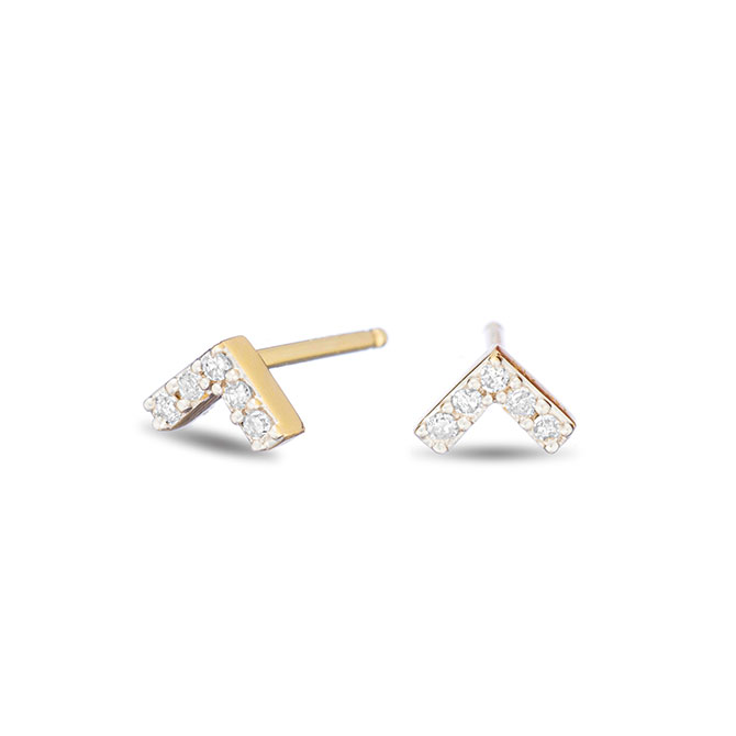 Adina Reyter super tiny pave v earrings