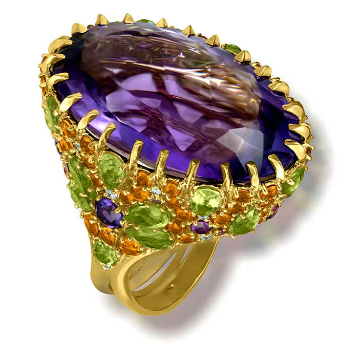 Alex Soldier Blossom amethyst ring