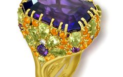 Alex Soldier Blossom Amethyst Square Ring