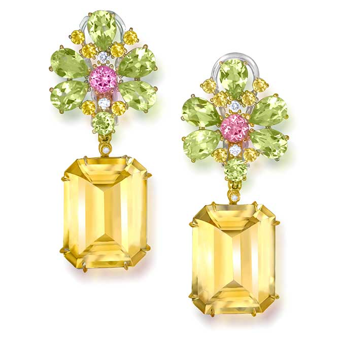 Alex Soldier Blossom citrine earrings