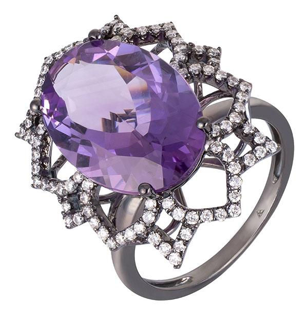 Arya Esha lava sophia amethyst ring