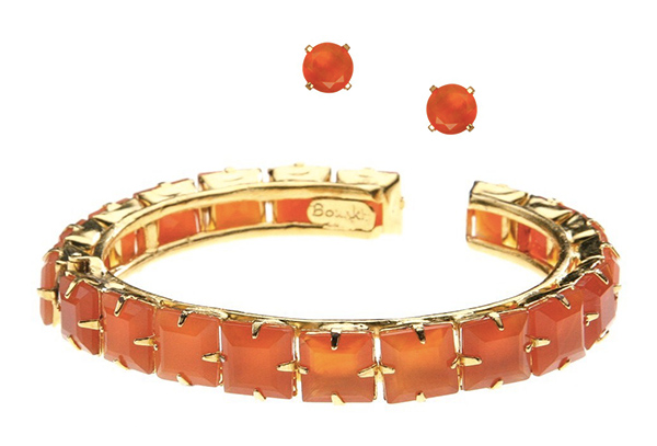 Bounkit citrine bracelet and studs