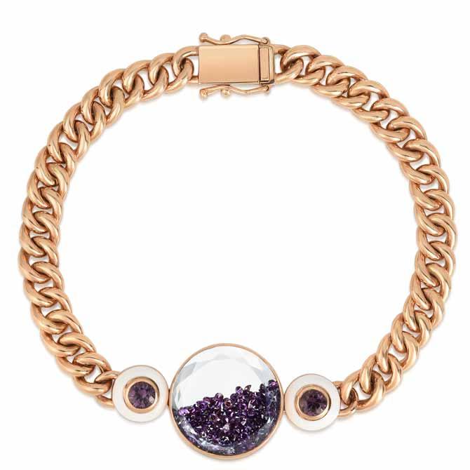 Moritz Glik Apollo purple diamond bracelet