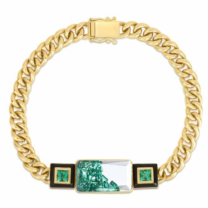 Moritz Glik Apollo emerald bracelet