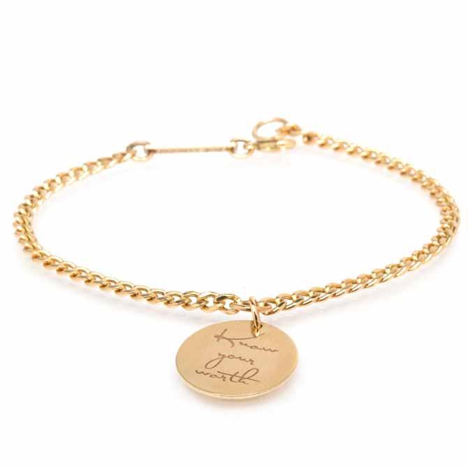 Zoe Chicco Mantra Worth bracelet