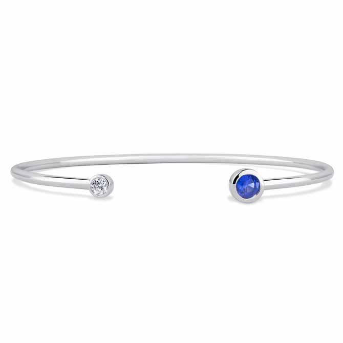 Annie James sapphire and diamond bracelet