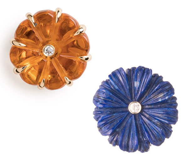 Brent Neale flower stud earrings