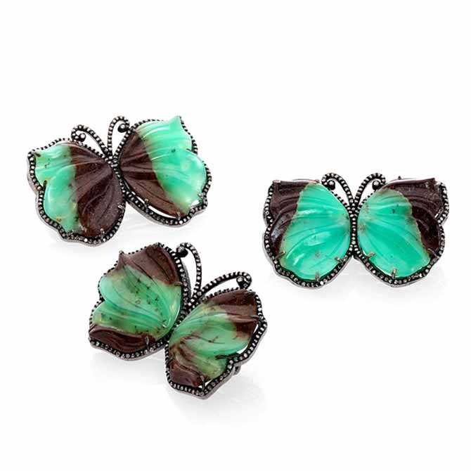 Bahina butterfly brooches