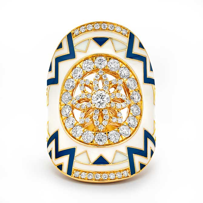 Buddha Mama mandal signet ring