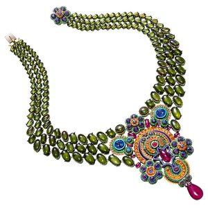 Chopard multicolor bib necklace